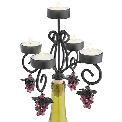 Bordeaux Wine Bottle Candleabra