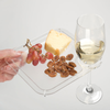 Party Plate w/ Built-In Stemware Holder (Set of 4)