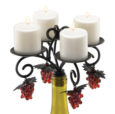 Wine Country Wine Bottle Candleabra