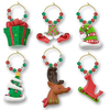Whimsy Holiday Wine Glass Charms