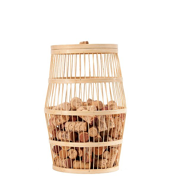 Bamboo Wine Barrel Cork Holder