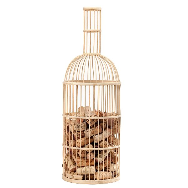 Bamboo Wine Bottle Cork Holder