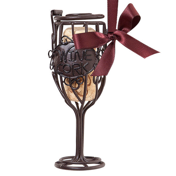 Wine Glass Cork Cage Bottle Ornament