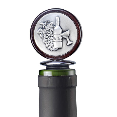 Pewter Wine Bottle Medallion Wine Bottle Stoppers