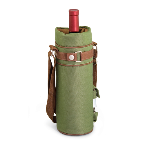 Picnic Time Wine Sack - Pine Green