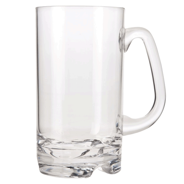 Forever Polycarbonate Beer Mug Glasses (Set of 4)