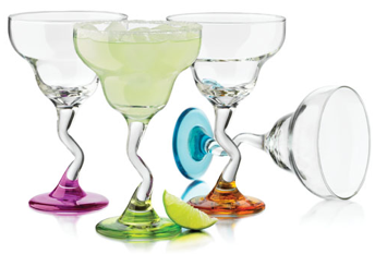 Libbey Z-Color Margarita 12oz Glassware (Set of 4)
