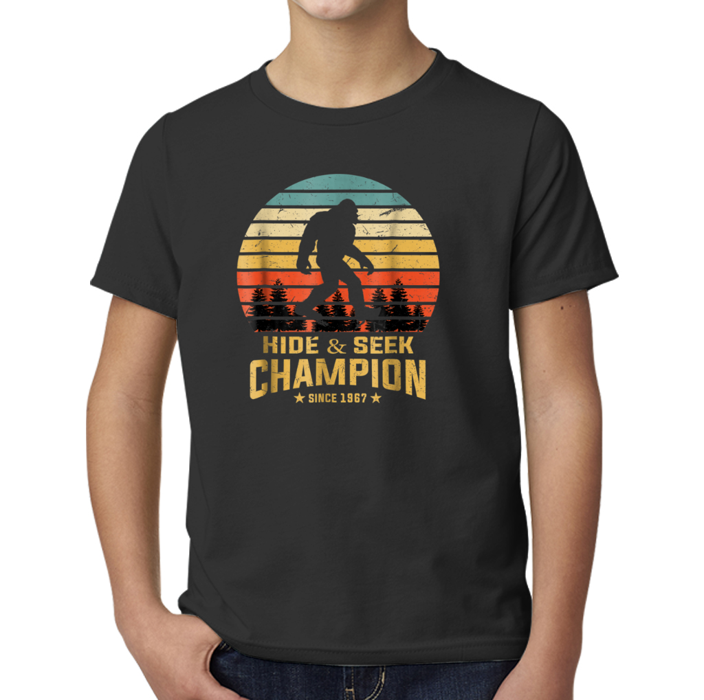 4a13dd24 Hide And Seek World Champion T-shirt Bigfoot Retro Vintage Young T-Shirts  Young