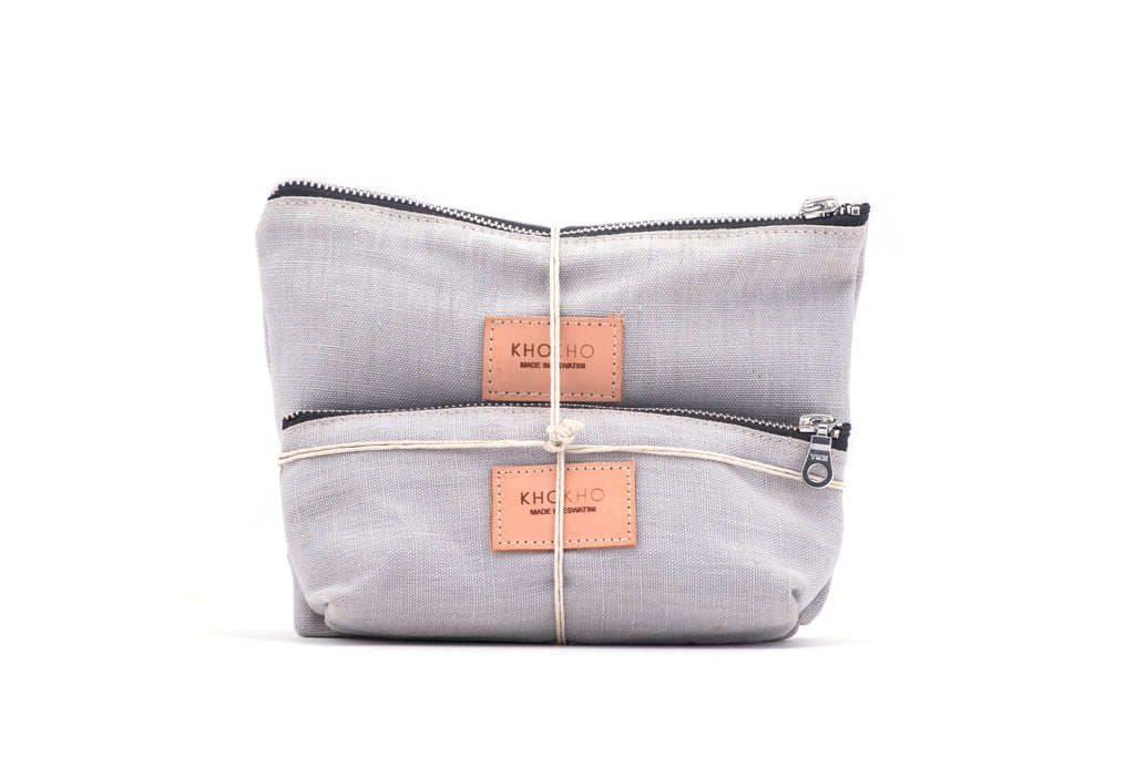 Hemp Canvas Cosmetic Pouch Set