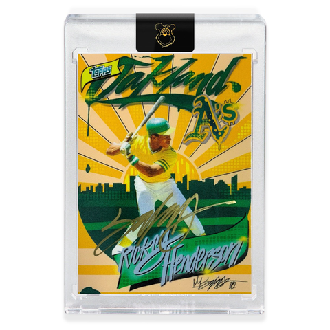 Edition of 99 - 1980 Rickey Henderson - GOLD AUTOGRAPH