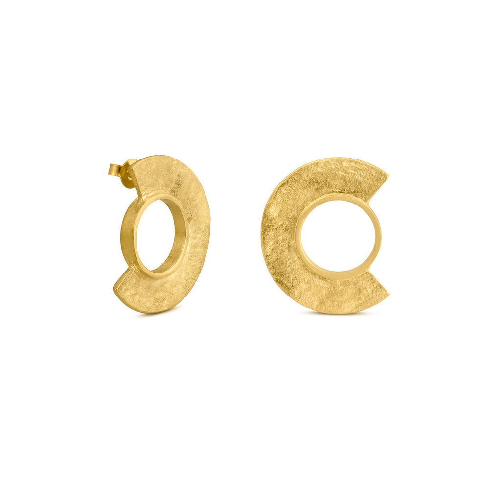 MINOICA GOLD EARRINGS MEDIUM ROUND J3341AR023200