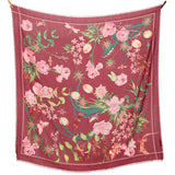 LIVING GARDEN WOOL/SILK SCARF ROSE MULTI - Dyrberg/Kern NZ