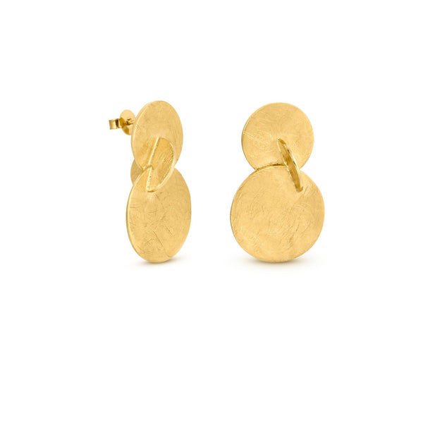 SOLEIL GOLD EARRINGS TRIPLE J3326AR063200