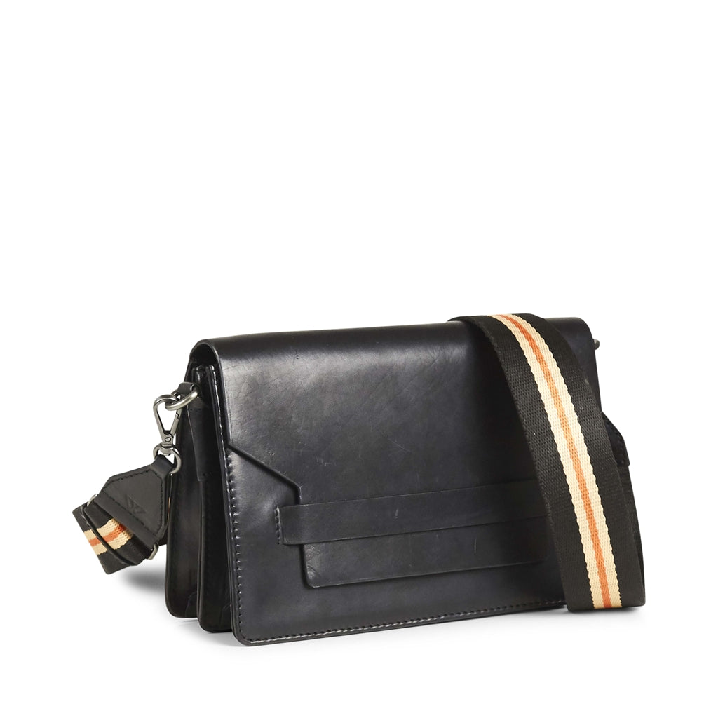 ARABELLA CROSSBODY BAG, ANTIQUE - BLACK w. Guitar Strap