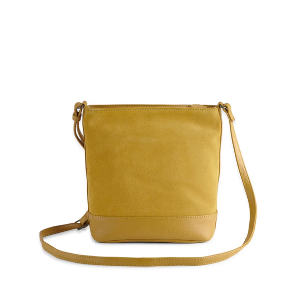 BEGONIA BAG SUEDE MIX - AMBER