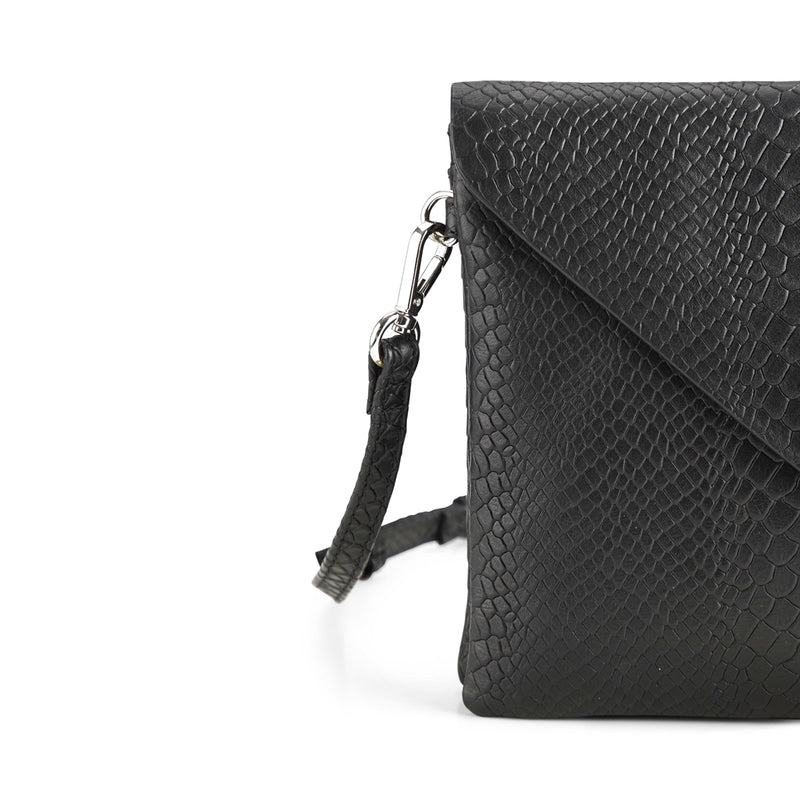 IVY CROSSBODY BAG, SNAKE, BLACK - Dyrberg/Kern NZ