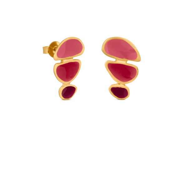 BORN GOLD EARRINGS TRIPLE J3316AR033200 - Dyrberg/Kern NZ