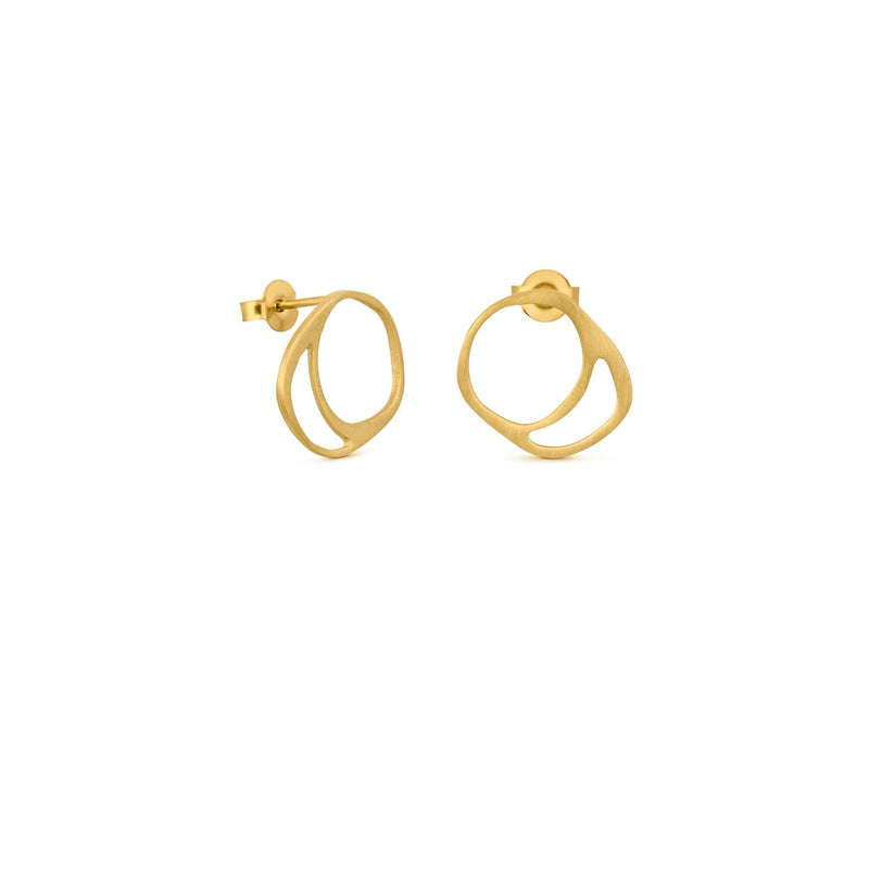 FORMA EARRINGS GOLD SMALL - Dyrberg/Kern NZ