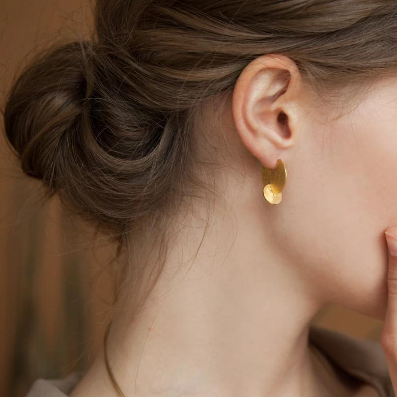 SOLEIL GOLD EARRING SMALL