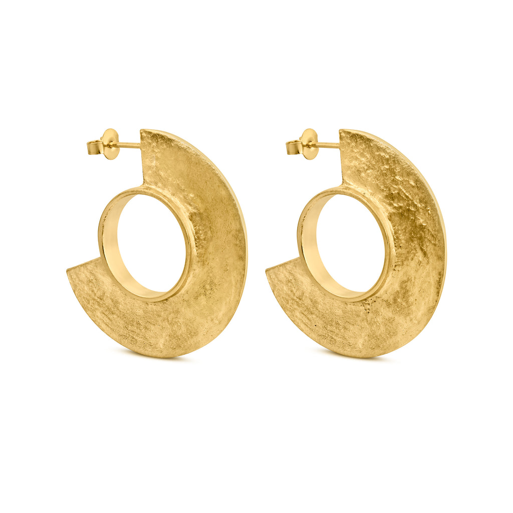 MINOICA GOLD EARRINGS LARGE ROUND J3341AR043200