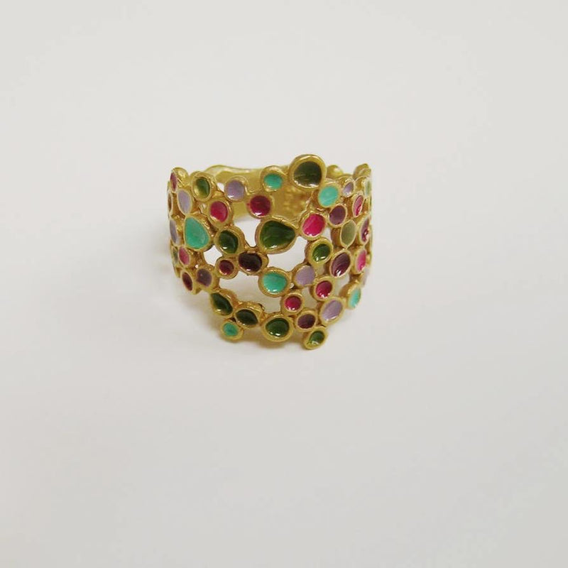 CANDY COLOURS GOLD RING ROUND - Dyrberg/Kern NZ