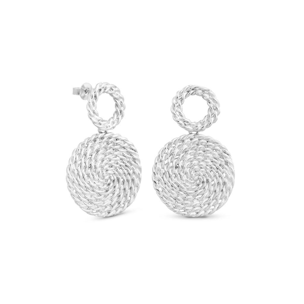 MIMBRE SILVER EARRINGS DROP CIRCLE J3344AR049000