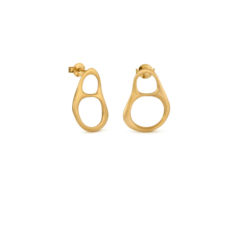 FORGE GOLD EARRINGS DOUBLE SMALL J3323AR023200 - Dyrberg/Kern NZ