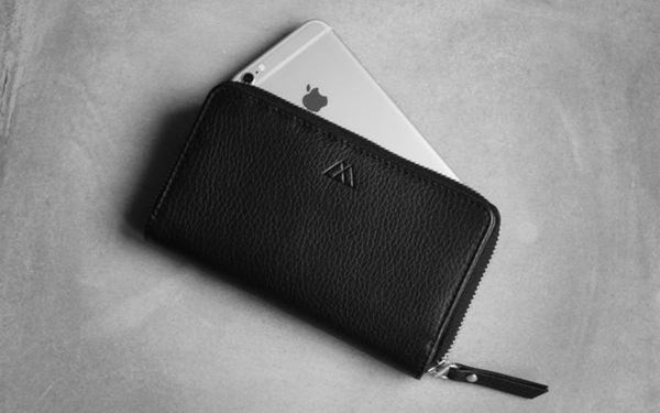 BAY WALLET, SNAKE - BLACK