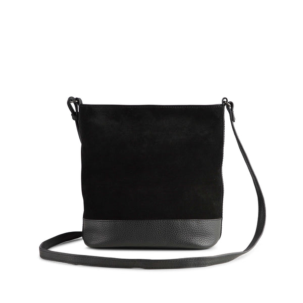BEGONIA BAG SUEDE MIX - BLACK