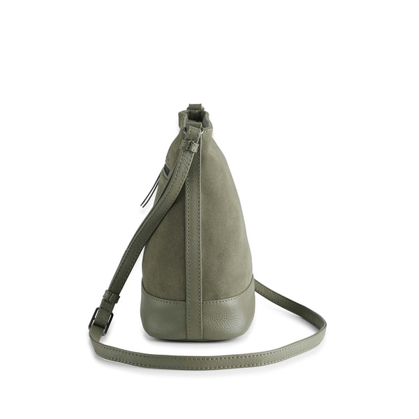 BEGONIA BAG SUEDE MIX - OLIVE