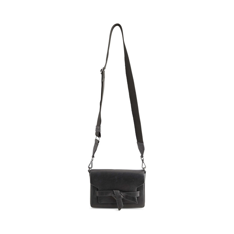VANYA KNOT CROSSBODY BAG, ANTIQUE / BLACK W/BLACK