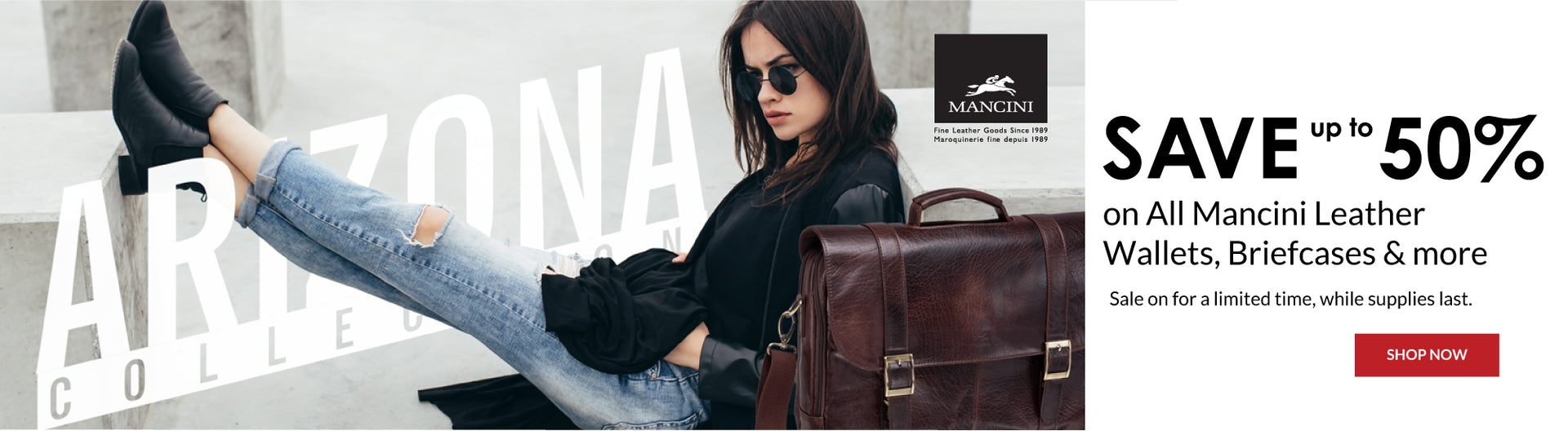 Mancini Leather wallets, briefcases sale