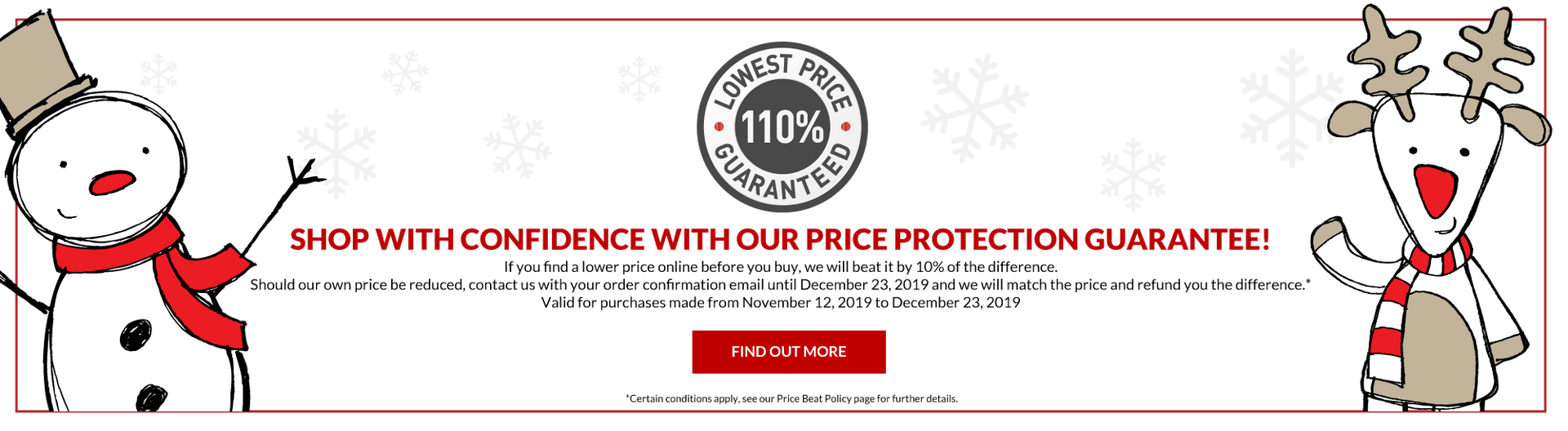 Price protection guarantee - Canada Luggage Depot
