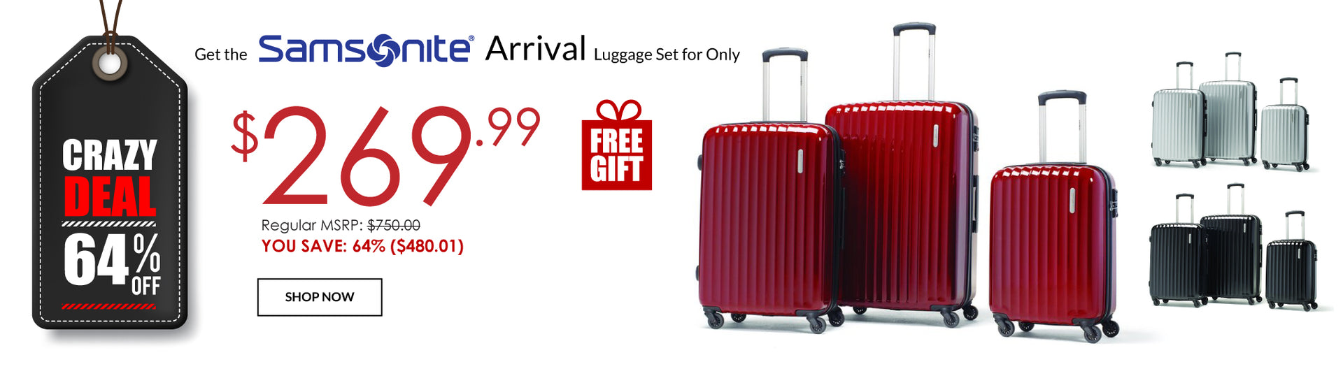 Samsonite Arrival Lightweight Luggage Sale - Canada Luggage Depot