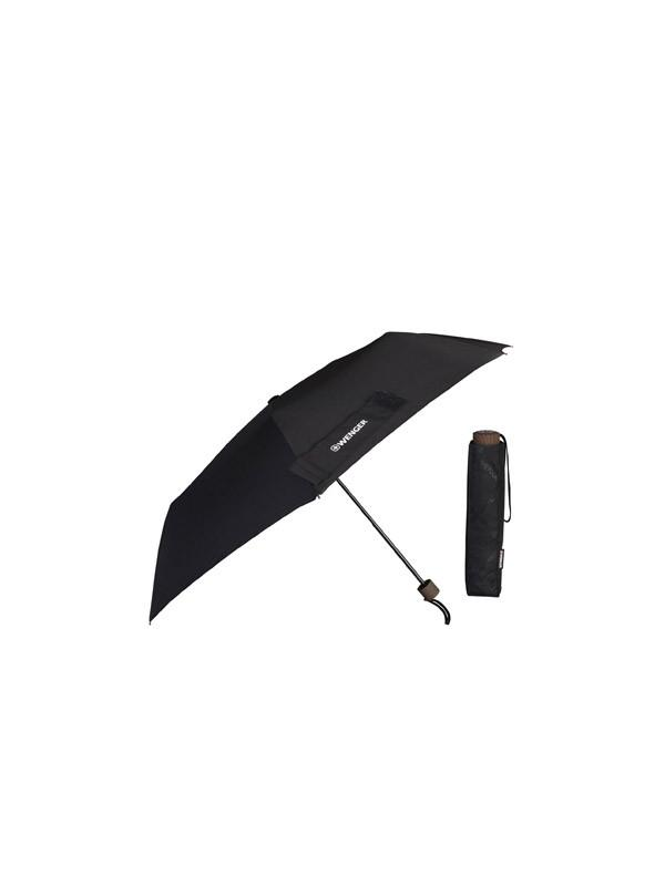 Wenger Telescopic Umbrella Rubber Handle - Black
