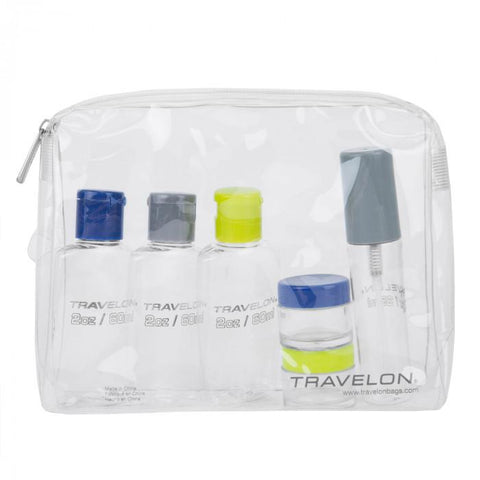 Travelon 1 Qt Zip-Top Bag with Bottles