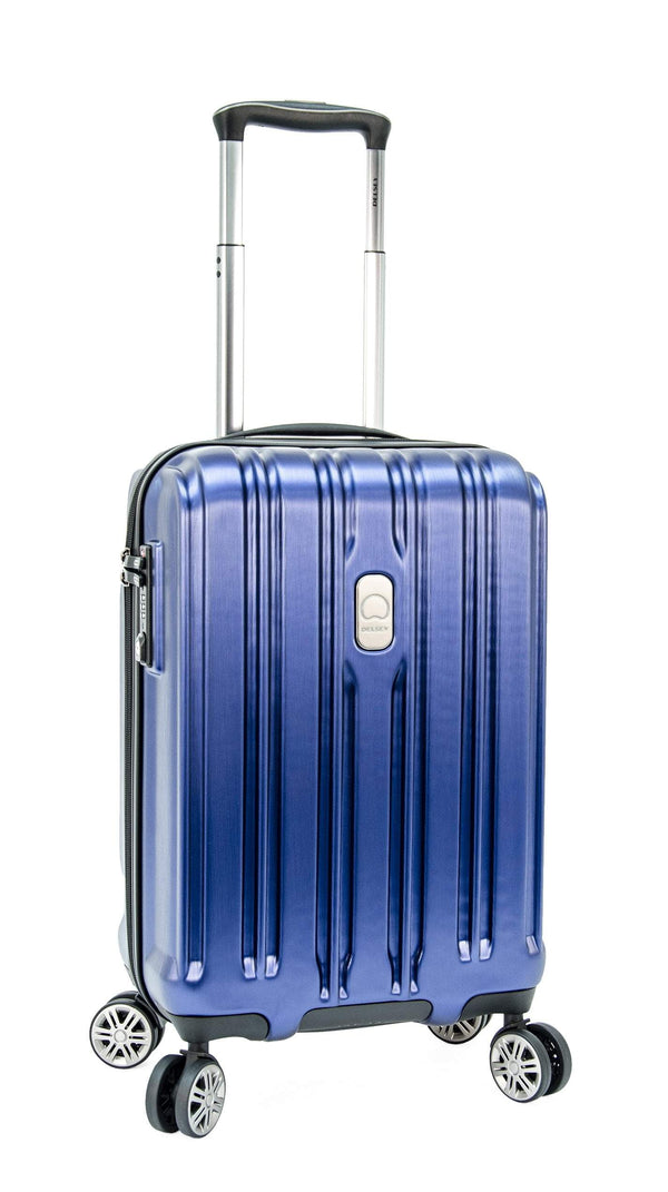 Delsey ChromeTec 2 Piece Expandable Spinner Luggage Set (Carry-On & Medium) - Blue