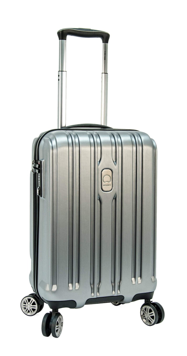 Delsey ChromeTec 2 Piece Expandable Spinner Luggage Set (Carry-On & Medium) - Silver
