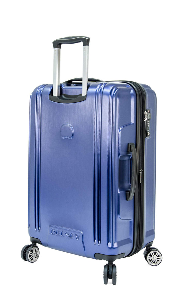 Delsey ChromeTec 2 Piece Expandable Spinner Luggage Set (Carry-On & Medium)