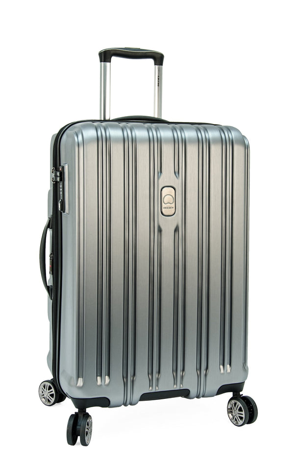 "Delsey ChromeTec 26.5"" Spinner Luggage - Silver"