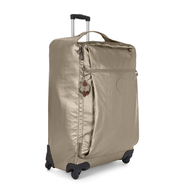 Kipling Darcey Large Metallic Rolling Luggage - Metallic Pewter