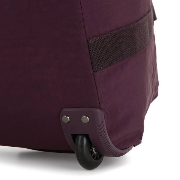 Kipling Art On Wheels Medium Rolling Tote Bag - Dark Plum