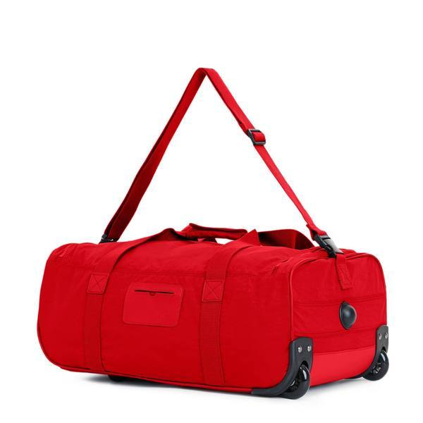 Kipling Discover Small Carry-On Rolling Luggage Duffel - Cherry Tonal