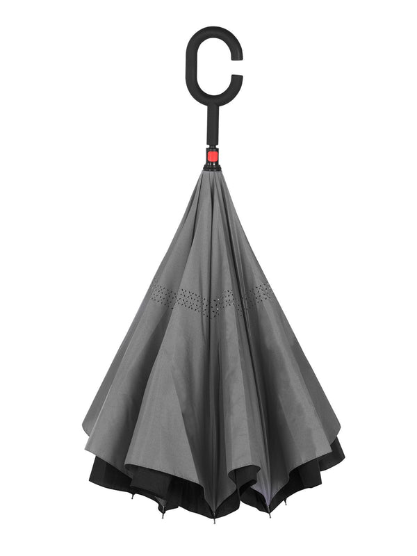 Belami by Knirps Reversible Stick Umbrella - Grey