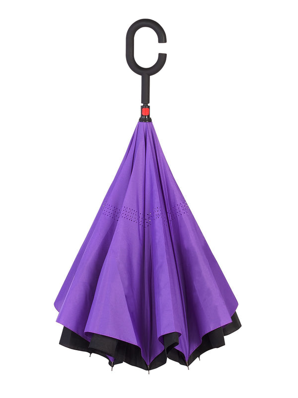 Belami by Knirps Reversible Stick Umbrella - Purple