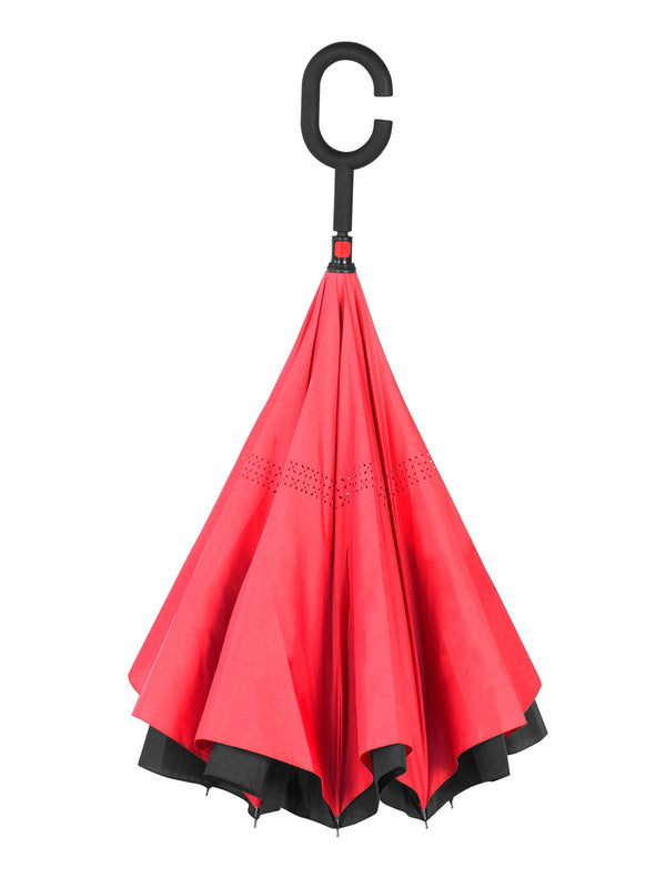 Belami by Knirps Reversible Stick Umbrella - Red
