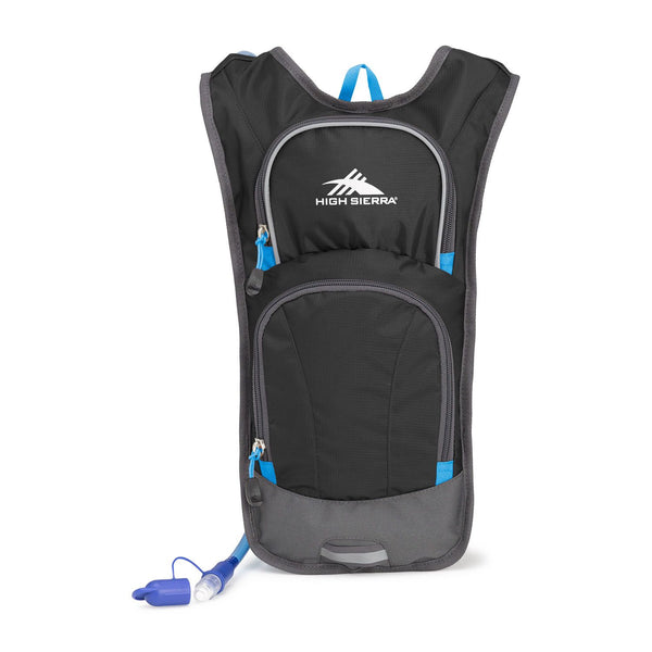 High Sierra Hydrahike Hydration Pack 4L - Black/Slate/Pool