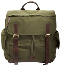 Mancini CANVAS Collection Large Backpack for 15.6 Inch Laptop