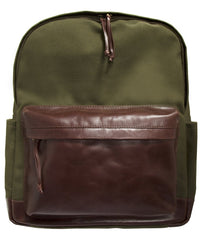 Mancini CANVAS Collection Backpack for 15.6 Inch Laptop