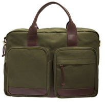 Mancini CANVAS Collection Single Compartment Briefcase for 15.6 Inch Laptop